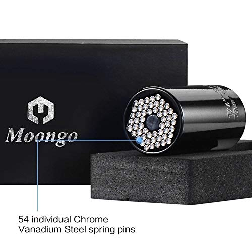 Moongo Tool Universal Socket Grip (7-19mm) Multi-Function Ratchet Wrench Power Drill Adapter 2Pc Set - Best Unique Tool Gift for Men, DIY Handyman, Father/Dad, Husband, Boyfriend, Him, Women