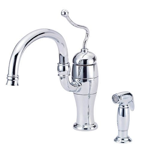 Danze D403221 Antioch Single-Handle Kitchen Faucet with Articulated Spout, Lever Handle and Spray, Chrome