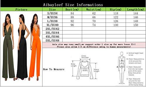Salopette Pantalon Femme Large Eté Sans Jumpsuit Color Ample Casual Barboteuse Playsuit Romper Combinaison Manche Aibayleef 18 Overall wqO7IXqd