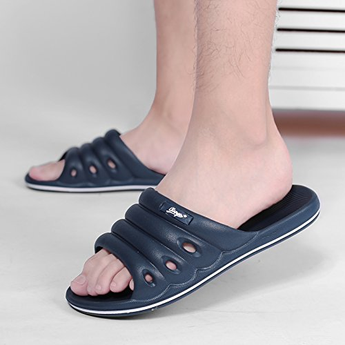Bathroom Bath Indoor 40 Summer Dark Cool Blue Household and Light Slippers Non Stay Soft Slip Slippers Men Plastic Slippers fankou Home U7qIIv