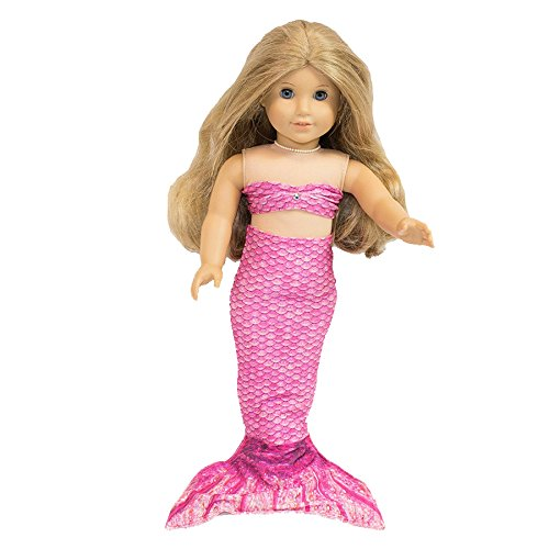 Fin Fun Mermaid Tail Outfit for 18 Inch Doll like American Girl - Waverlee's Malibu Pink