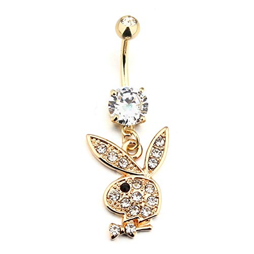 Sassy Bee Sexy Playboy Bunny 316l Surgical Steel Belly Button Rings Navel Body Jewelry