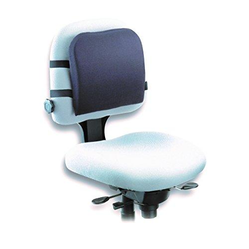 Kensington L82025F Memory Foam Backrest, 14-1/4w x 1-3/4d x 13-1/4h, Black - G-force Table Cover