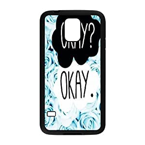 2014 New & Fashion Star The Fault in Our Stars Okay?okay. phone Case Cover for Samsung Galaxy S5 I9600 ART100588