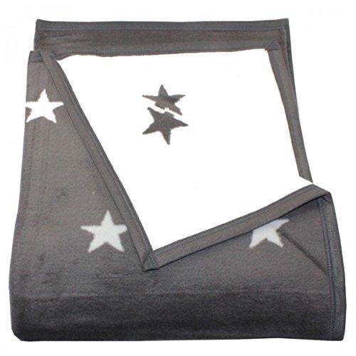 Wohndecke Stars Mit Einfassband 150 X 200 Cm Sterne 58 Baumwolle