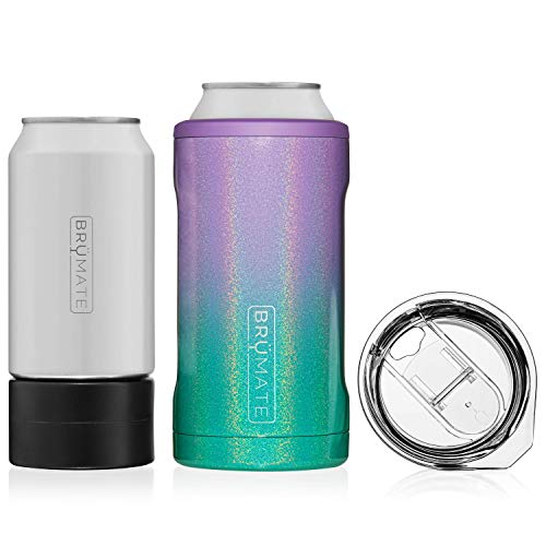 (BrüMate HOPSULATOR TRíO 3-in-1 Stainless Steel Insulated Can Cooler, Works With 12 Oz, 16 Oz Cans And As A Pint Glass)