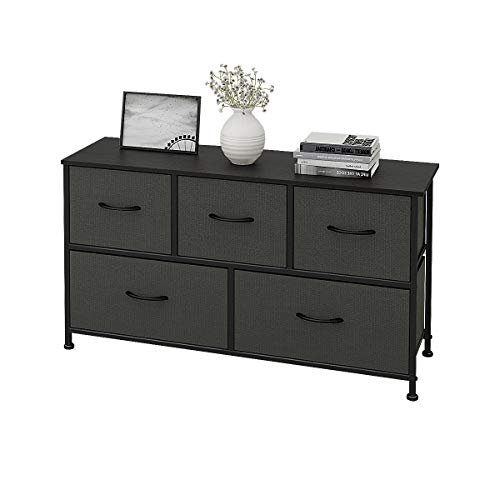 WLIVE 5 Drawers Dresser Storage Organizer Unit for Bedroom, Hallway, Entryway, Closets ()