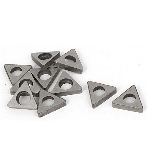 (Uxcell a16010500ux0258 Triangle Shape Carbide Cutter Insert MT1603 10 Pcs For Woodturning,)