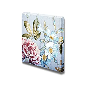 Canvas Prints Wall Art - Vintage Style Floral Victorian Pattern | Modern Wall Decor/Home Decoration Stretched Gallery Canvas Wrap Giclee Print & Ready to Hang - 16
