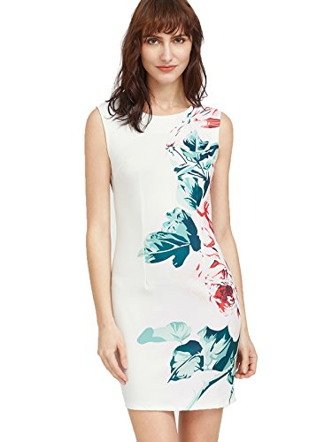 Buy cheap floerns womens floral bodycon cocktail party summer dresses large white blue