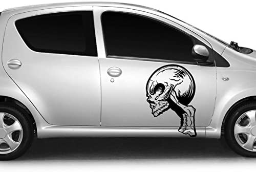 Con diseño de coche de diseño de tatuaje de calavera de Alien de ...