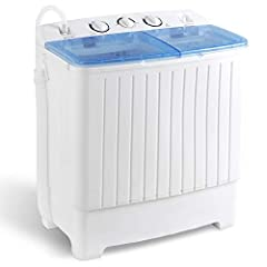 Say goodbye to the laundromat with SUPER DEAL compact portable fully automatic washing machine, with no hookup required.   It's great for anyone that lives where larger machines aren't possible, but also nice for other folks that would prefe...