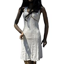 Alpakaandmore Women Ecological Pyma Cotton Dress Greek Design White