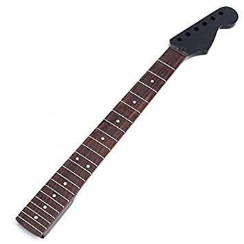 kenthia guitarra eléctrica Cuello Para St Sustitución de piezas 22 Fret Arce Diapasón de madera de color negro: Amazon.es: Instrumentos musicales
