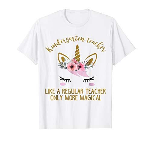 Kindergarten Teacher Cute Unicorn Gift Shirt]()