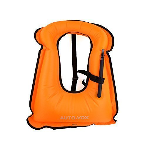 Auto-Vox Adult Inflatable Life Snorkeling Vest Jacket Great for Snorkeling Surfing Swimming Boating Kayaking Fishing...