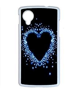 Sweet Love Design PC White Case for Google Nexus 5 Beautiful