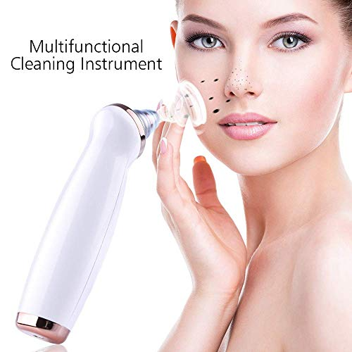 Blackhead Remover Vacuum, Electric Facial Pore Cleaner Acne Comedone Extractor Set with 5 Suction Probes and 3 Adjustable Suction Force for All Skins -USB Rechargeable