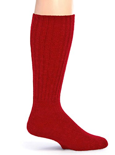 (Warrior Alpaca Socks - Women's Ribbed Casual Everyday Alpaca Wool Crew Socks (Medium,)