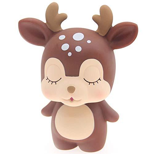 H&W Cute Deer Coin Bank for Kids, Brown, Money Box, Piggy Bank, Candy Box, Best Gift for Children, Boys, Girls (WK6-D1)