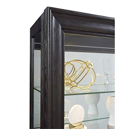 Pulaski P021553 Rockford Mirrored Two Way Sliding Door Curio Cabinet 45.9'' x 14.8'' x 80.0'' by Pulaski (Image #2)
