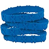 4 Blue Awareness Pop-Out Bracelets, colon cancer, colorectal cancer, child abuse, respiratory disease