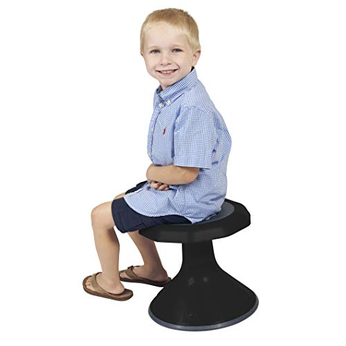 - ECR4Kids ELR-15615-BK Ace Active Core Engagement Wobble Stool for Kids Flexible Classroom and Home Seating, 15