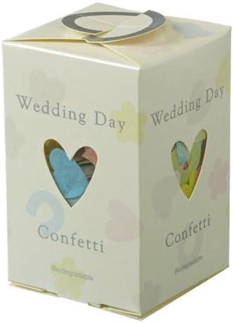 Caja de confetti biodegradable para boda: Amazon.es: Hogar