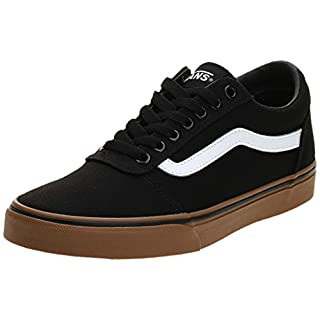 Vans Men''s Ward Low-Top Sneakers, (Canvas) Black/Gum 7Hi, 7.5 UK 7.5 UK