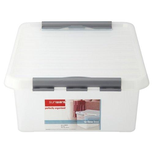 Sunware Perfekt organisierte Q-Line Box 25 Liter (Packung mit 6 x SGL)