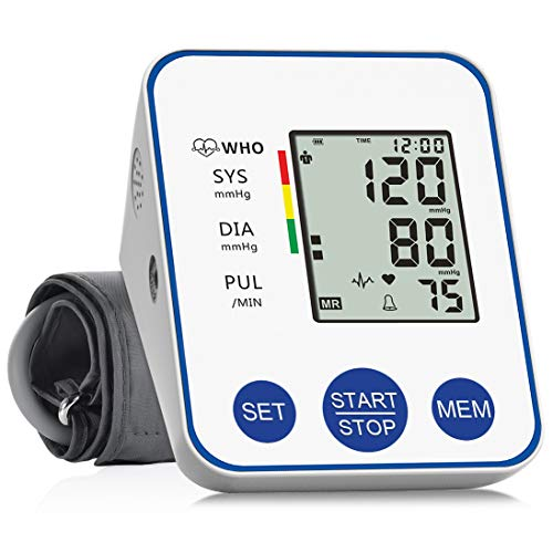 Blood Pressure Monitor Upper Arm, Accurate Automatic Digital BP Machine for Home Use & Pulse Rate Monitoring Meter with Wide-Range Cuff, 2