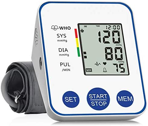 Blood Pressure Monitor Upper Arm, Accurate Automatic Digital BP Machine for Home Use & Pulse Rate Monitoring Meter with Wide-Range Cuff, 2×99 Memories & Large LCD Display