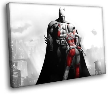 Batman Arkham City Harley Quinn Gaming Superheroes Framed Poster Print 40x30cm