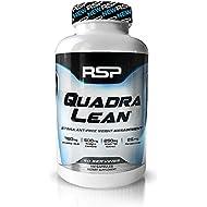 RSP QuadraLean Stimulant Free Fat Burner Pills, Weight Loss Supplement, Appetite Suppressant & Metabolism Booster, Diet Pill for Men & Women, 50 Servings