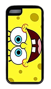 iPhone 5C Case, iPhone 5C Cases - Black Soft Rubber Shock-Absorption Bumper Case for iPhone 5C Spongebob Smiling Water Resistant Back Case for iPhone 5C