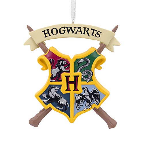 Hallmark Christmas Ornaments, Harry Potter Hogwarts Crest Ornament (Christmas Ornament Studio Decor)