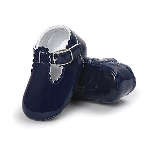 Prevently Baby Schuhe Baby Kleinkind Schuhe Leder Baby Prinzessin Flip Flops Kleinkind Turnschuhe Freizeitschuhe Marine