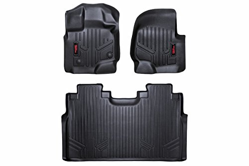 Rough Country - M-51512 - Heavy Duty Floor Mats - Front & Rear Combo (SuperCrew Cab Models) for Ford: 15-18 F150 4WD/2WD