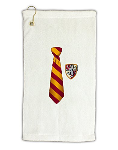 Terry Harry Potter Towels - TooLoud Wizard Tie Red and Yellow Micro Terry Gromet Golf Towel 16