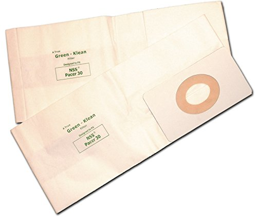 Green Klean GK-Pacer30 Pacer 30 Wide Area Vac Replacement Vacuum Bags (Pack of 36)