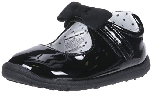 Carter's Every Step Gigi3-P Baby Girl's Walking Mary Jane Flat, Black, 6 Medium US Toddler -