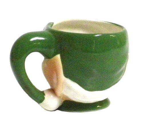 180D Small Round Stoneware Pitcher Creamer Retro Colors 4.5T Green
