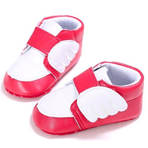 HUHU833 Neugeborene Baby Jungen Mädchen Soft Crib Schuhe Kleinkind Schuhe, Flügel Krippe Schuhe, Weiche Alleinige Turnschuh Kleinkind Schuhe Rot