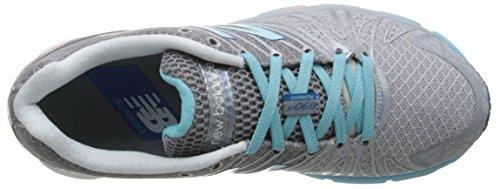 New Balance Womens W890V5 Neutral Running Shoe Silver/Blue 8fE2aQMqq