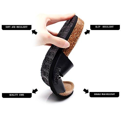 ZHANGRONG-- Zapatillas sintéticas de la caída del verano de las mujeres deslizan la junta para los zapatos ocasionales ( Color : B , Tamaño : EU38/UK5.5/CN38 ) A