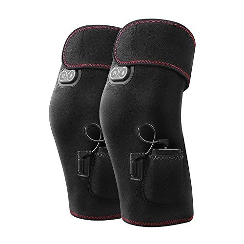 Price comparison product image YX XY Electric Heating Knee Pads Men and Women Rechargeable Joints to Keep Warm Knee Physiotherapy Heat Pack Knee Pads 54X39X29 Boutique (Size : No Vibration Massage)
