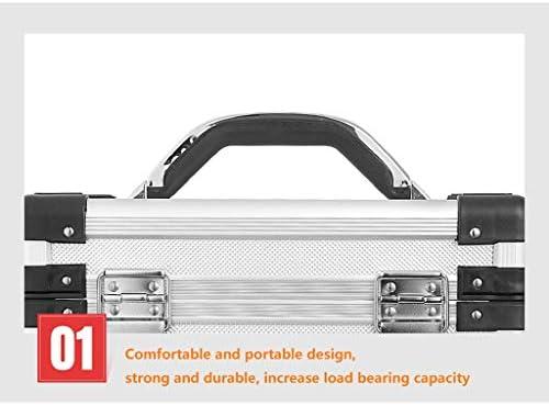 LHT アルミツールボックスポータブルトランク航空アルミニウム金属ツールボックスアルミ製ボックス計器ケース ツールボックス