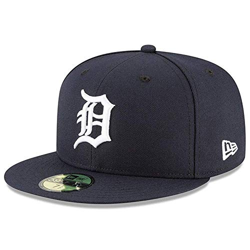 New Era 59Fifty Hat Detroit Tigers MLB Authentic On Field Home Navy Blue Fitted Cap (7 1/2)