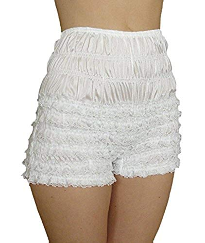 Malco Modes Womens Sexy Ruffle Panties Tanga Dance Bloomers Sissy Booty Shorts (Apple, XX-Large) -