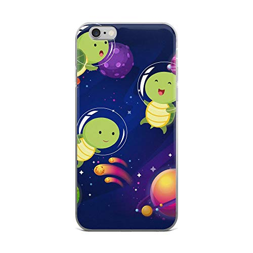 iPhone 6 Plus/6s Plus Pure Clear Case Cases Cover Space Turtles Cute Design Turtles Lovers TPU Slim Solid Durable Compatible for Apple iPhone